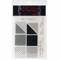 EZ-De's Clear Stamps 6X8 Sheet-Checkered Woven Hearts