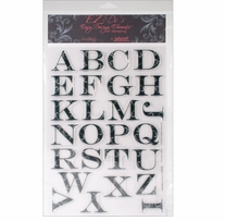 EZ-De's Clear Stamps 8X12 Sheet-Flourish 2 ABC's