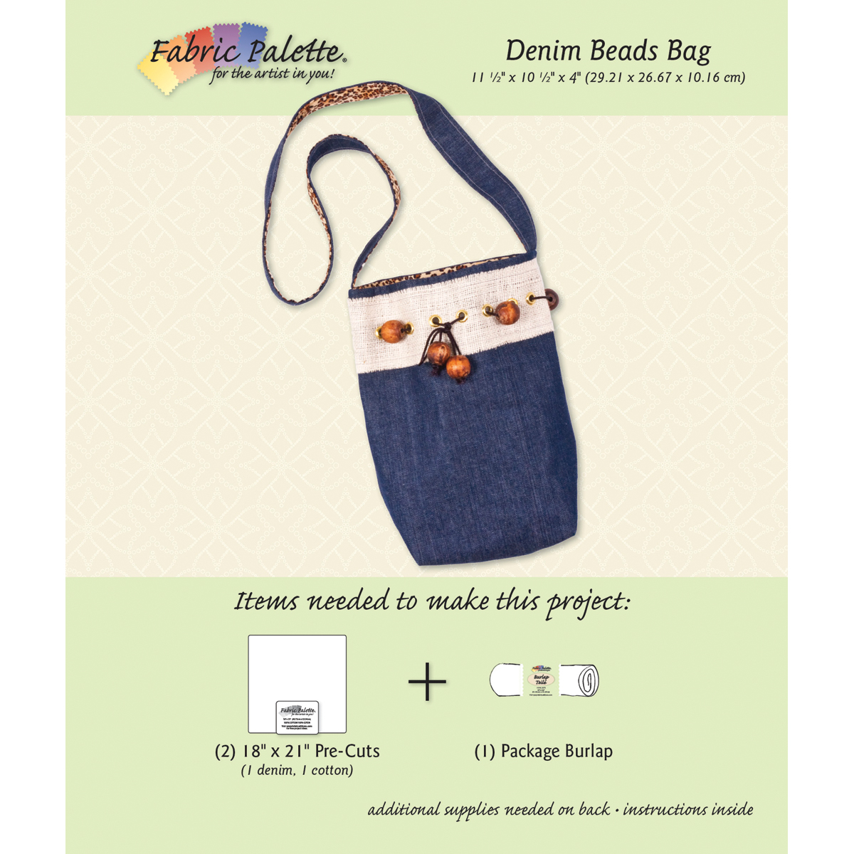 Fabric Editions Project Card Denim Shoulder Bag - Click to enlarge