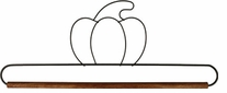 Fabric Holder With 12in Dowel Pumpkin