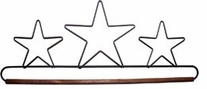 Fabric Holder With 16in Dowel Three Star