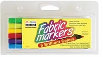 Fabric Marker Fine Tip Brilliant 6/Pkg