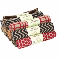 Fabric Palette Burlap Assortment Printed 18in x 21in 1/Pkg Printed
