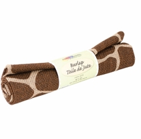 Fabric Palette Printed Burlap Giraffe Brown
