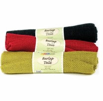 Fabric Palette Solid Christmas Burlap 1/2yd Cuts