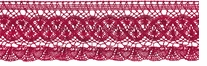 Fan Cluny Lace Scarlet 3.5inX12yds