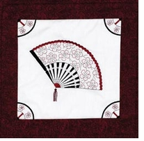 Fan Quilt Blocks Stamped Cross Stitch