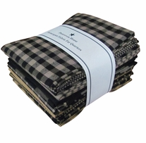 Fat Quarter Bundles Black Homespun