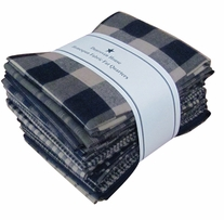 Fat Quarter Bundles Navy Homespun
