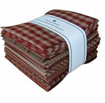 Fat Quarter Bundles Red Homespun