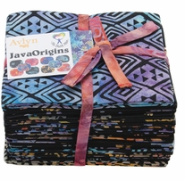 The Batik Man Java Origins Fat Quarters Black 18in x 21in 20pcs