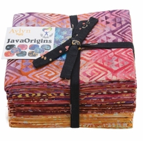 The Batik Man Java Origins Fat Quarters Orange 18in x 21in 20pcs