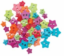 Favorite Findings Mini Shaped Buttons Fun Stars
