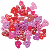 Favorite Findings Mini Shaped Buttons Pretty Hearts