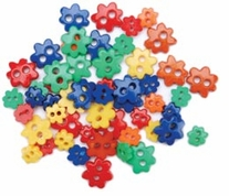Favorite Findings Mini Shaped Buttons Primary Flowers