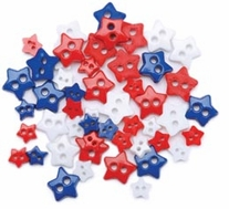 Favorite Findings Mini Shaped Buttons Traditional Stars