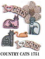 Feline and Fido Dress It Up Embellishments Country Cats