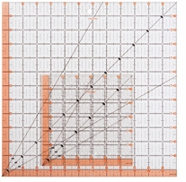 Fiskars Quilting Ruler 12.5inx12.5in & 6.5inx6.5in 2/Pkg