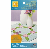 Five Petal Flower Template 4inx6in 1/Pkg