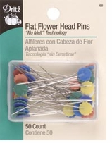 Flat Flower Head Pins 50/Pkg