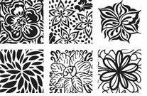 Floral Fantasy Rubbing Plates Set Of Six