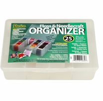Floss Caddy 7 Compartment with 25 Bobbins 4.5inX7inX1.5in