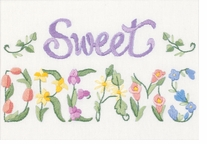 Flowery Sweet Dreams Mini Crewel Embroidery Kit