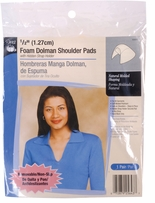 Foam Dolman Shoulder Pads White