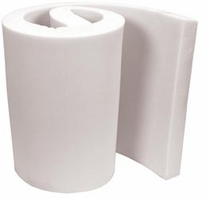 Foam Rolls Regular Density Urethane Foam White