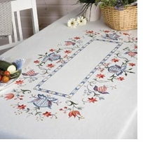 Folklore Tablecloth Embroidery Kit