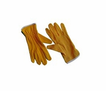 Fons and Porter Machine Quilting Gloves Yellow Large