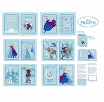 Frozen Anna's Friends Softbook Panel 43/44inX10yds D/R
