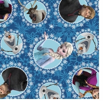 Frozen Character Fleece Multi-Character Framed Fleece