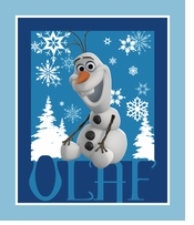 Frozen Olaf Fabric Panel 15yd bolt
