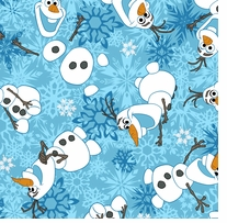 Frozen Fabric Olaf Flannel Olaf Winter Snowflakes