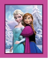 Frozen Panel Sisters Snowy Scenic Panel