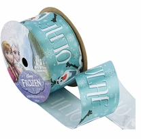 Frozen Ribbon Olaf Name 1.5inX9ft