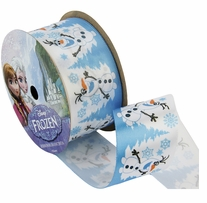 Frozen Ribbon Olaf Snowy 1.5inX9ft