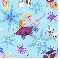 Frozen Sisters Ice Skating Badges Toss 59/60inX10yd 100% Polyester D/R