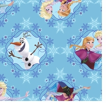 Frozen Sisters Ice Skating Framed 43/44inX15yds 100% Cotton D/R