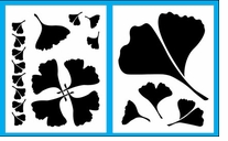 Ginkgo Leaves Stencil Set For Shiva Paintstiks