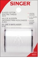 Glaced Cotton Quilting Thread White