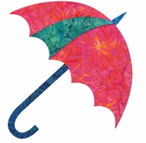 GO! Fabric Cutting Die Dancing Umbrella By Edyta Sitar