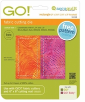 GO! Fabric Cutting Die Rectangle 1.5inx3in