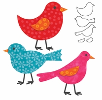 GO! Fabric Cutting Dies Birds