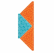 GO! Fabric Cutting Dies Quarter Square 4-1/2in Finished Triangle