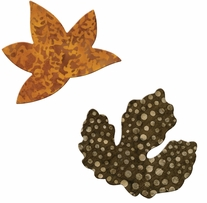 GO! Fabric Cutting Dies Rustling Leaves #3 Sweetgum & Poplar Small