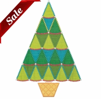 GO! Fabric Cutting Dies Sparkle Jumbo Tree By Sarah Vedeler