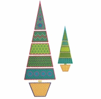GO! Fabric Cutting Dies Sparkle Slim Tree By Sarah Vedeler