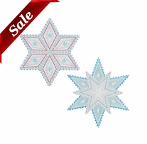 GO! Fabric Cutting Dies Sparkle Snowflakes By Sarah Vedeler